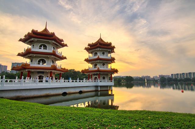 Chinese Japanese Garden Singapore Travel Singapura